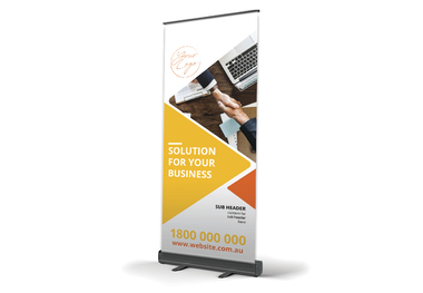 Corporate Banner Rounded Orange